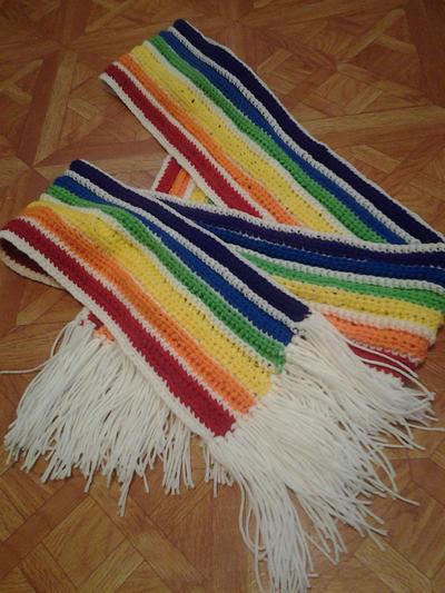 Rainbow Scarf 1 by Stella--Marie
