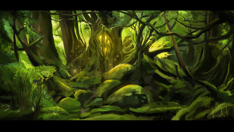 dark forest by VeroNArt on DeviantArt