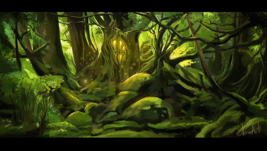 dark forest by VeroNArt on DeviantArt