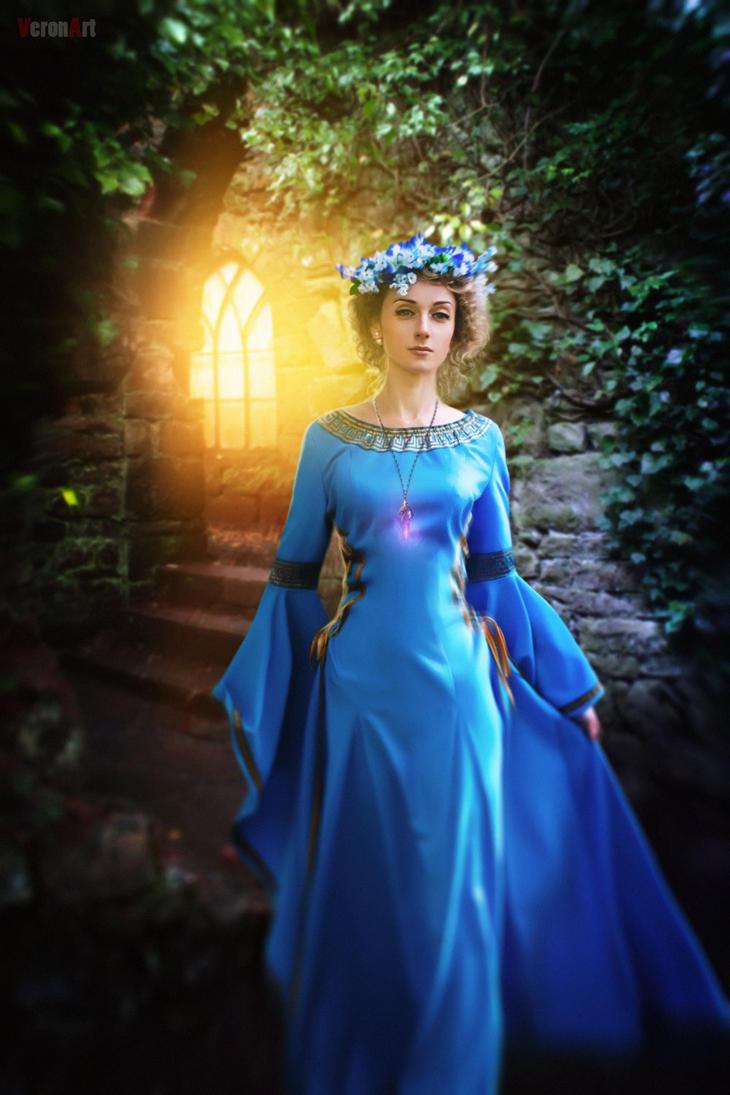 Princess with flowers6 by VeroNArt