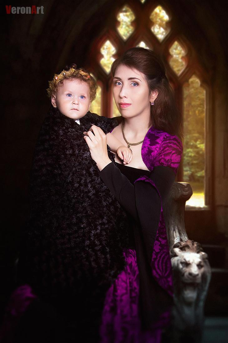 Medieval family portrait by VeroNArt