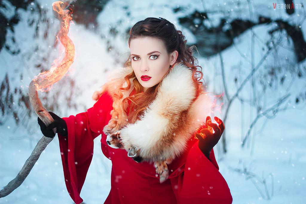 fire Priestess2 by VeroNArt