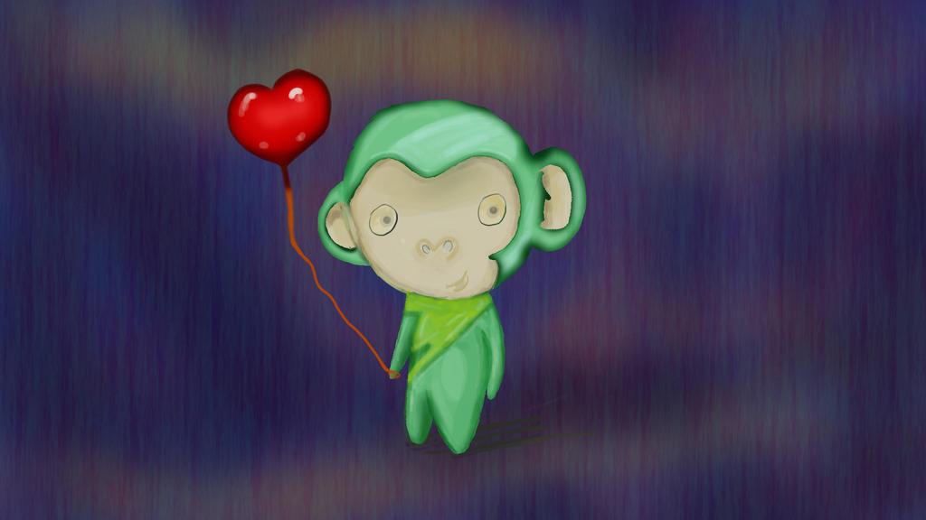 Monkey-Love by Kikifiki