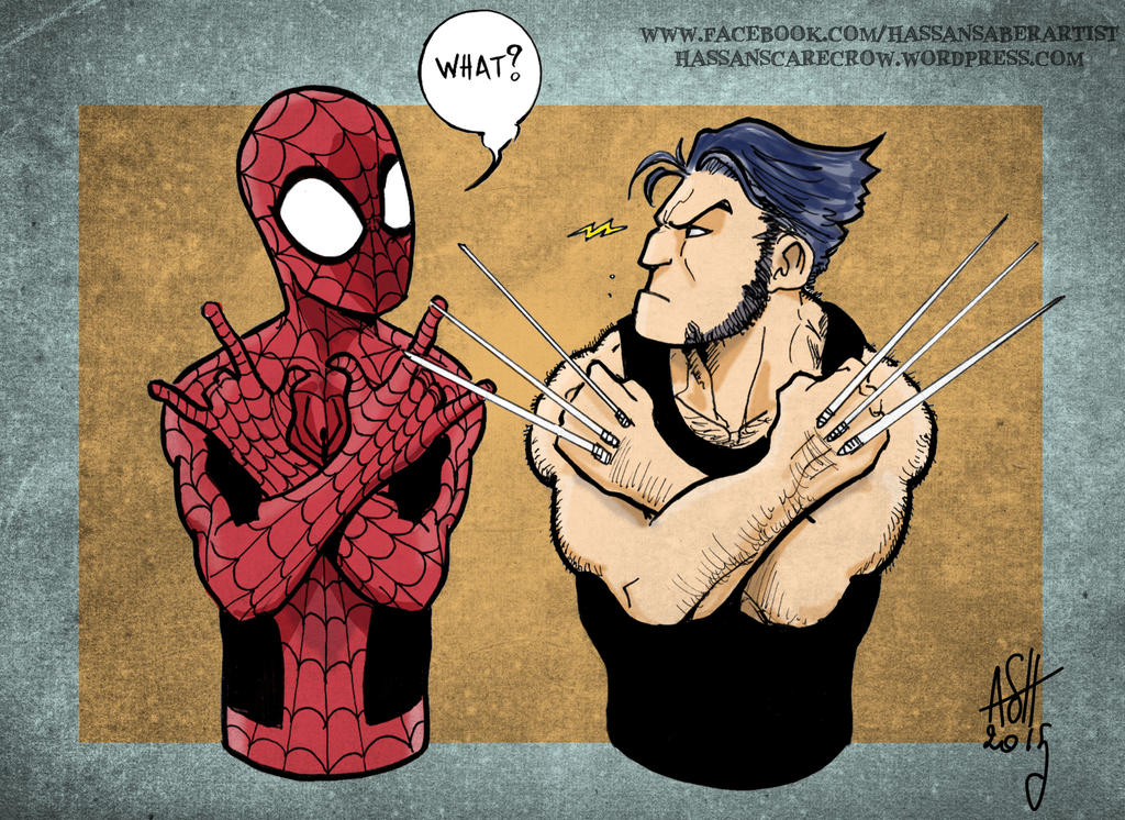 Wolverine Spiderman by scarecrowhassan