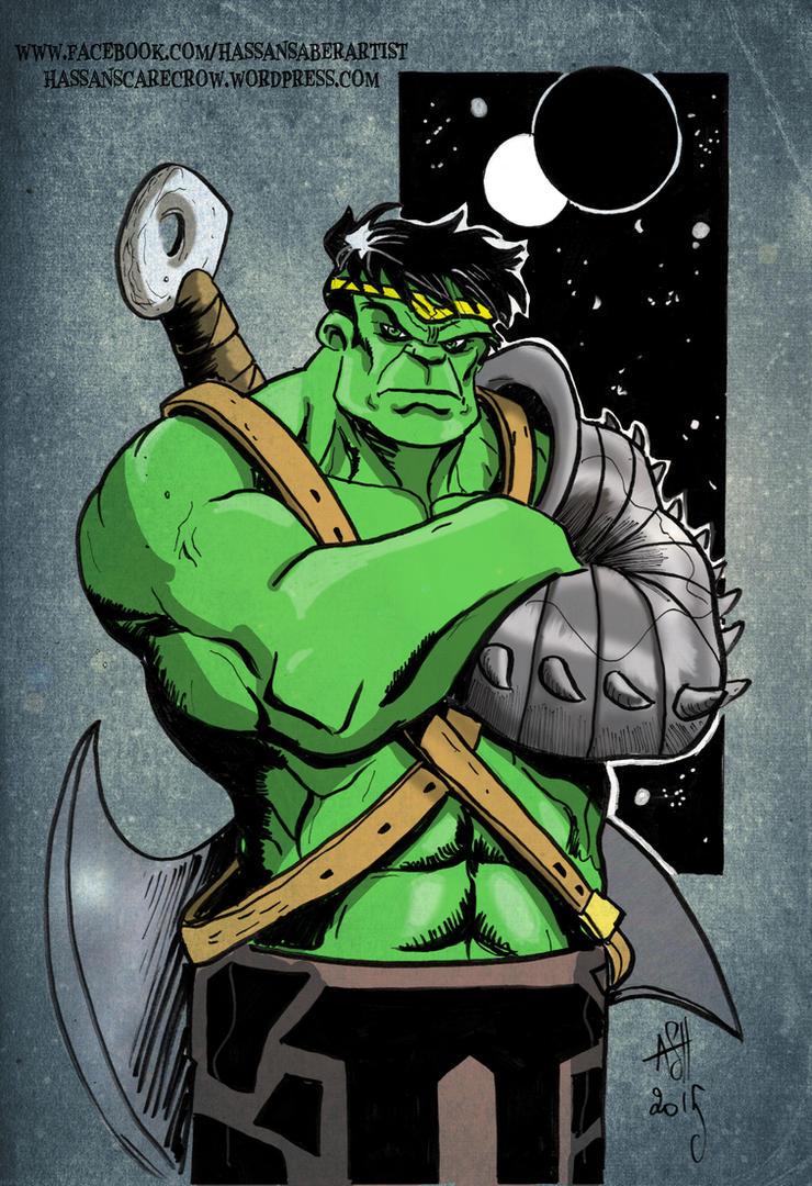 King Hulk by scarecrowhassan