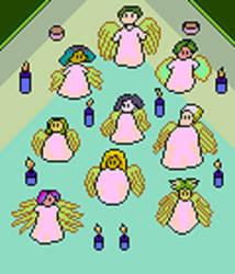 Angels Congregate by Azel4