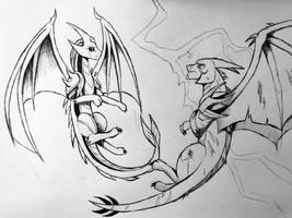 DRAGONFORMERS - Megatron meets Valkyr (Sketch)