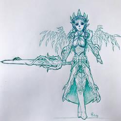 Guild Wars 2 - Sylvari Reaper sketch