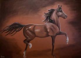 Horse - Coal drawing