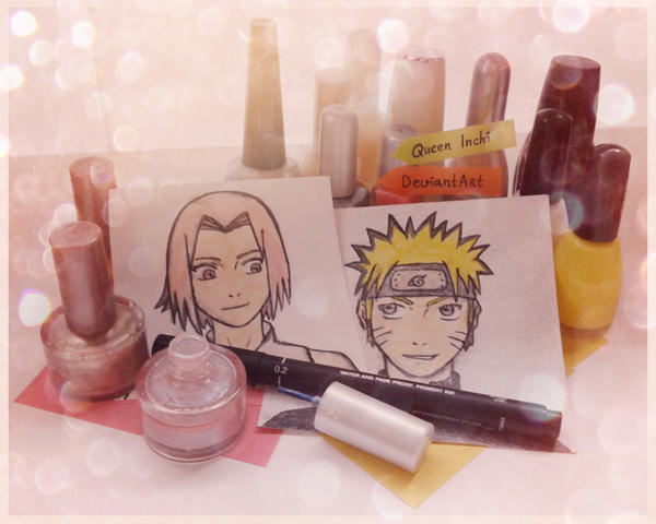 NARUSAKU -  NAIL POLISH ART by QUEEN-INCHI