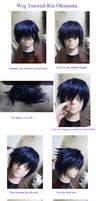Wig Tutorial Ao No Blue Exorcist Rin Okumura by kasou0630