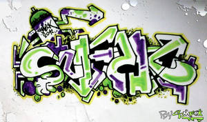 SmecK Graffiti GreenPurple
