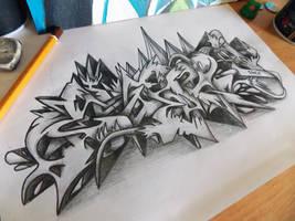 Cesar Graffiti Sketch Battle by SmecKiN