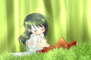 Inuyasha - Nap time by Etrilya