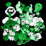 Luigi's Paper Mansion Green Version (T-Shirt)