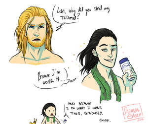 Th'Oreal, cause you're worth it by ShamsArts