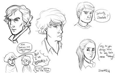 Sherlock Doodles by ShamsArts
