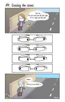 4. Crossing the street