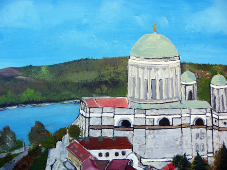 Esztergom Bazilika acryl painting 80x100 Canvas