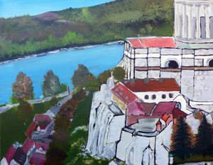 Esztergom Bazilika acryl painting 3 80x100 Canvas