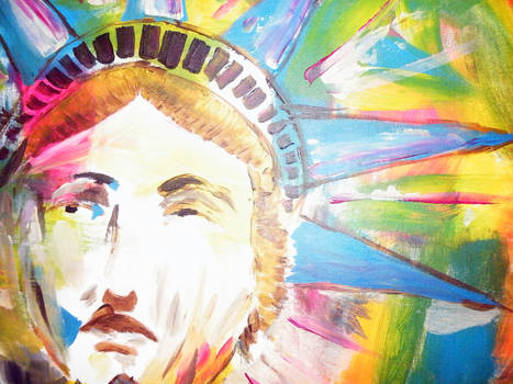 Acryl painting Statue of Liberty detail