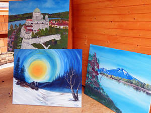 Acryl painting landscaped 80x100 Canvas