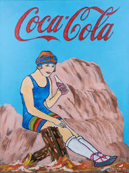 Acryl painting coca cola 60x80 Canvas