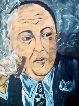 Tony Soprano : James Gandolfini acryl