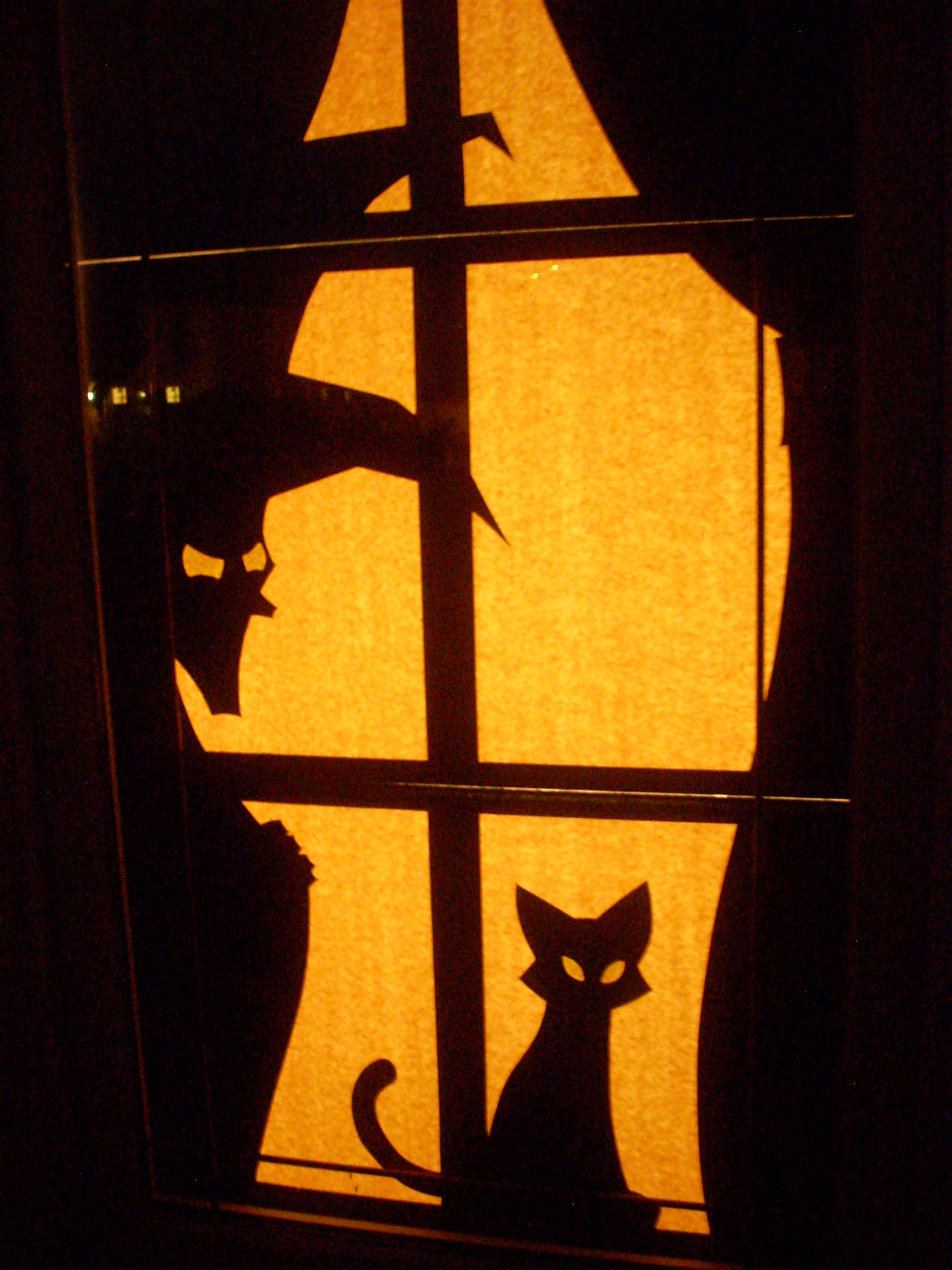 Window at night from outside -  Witch At The Window Outside Night By Stuff By Mjm