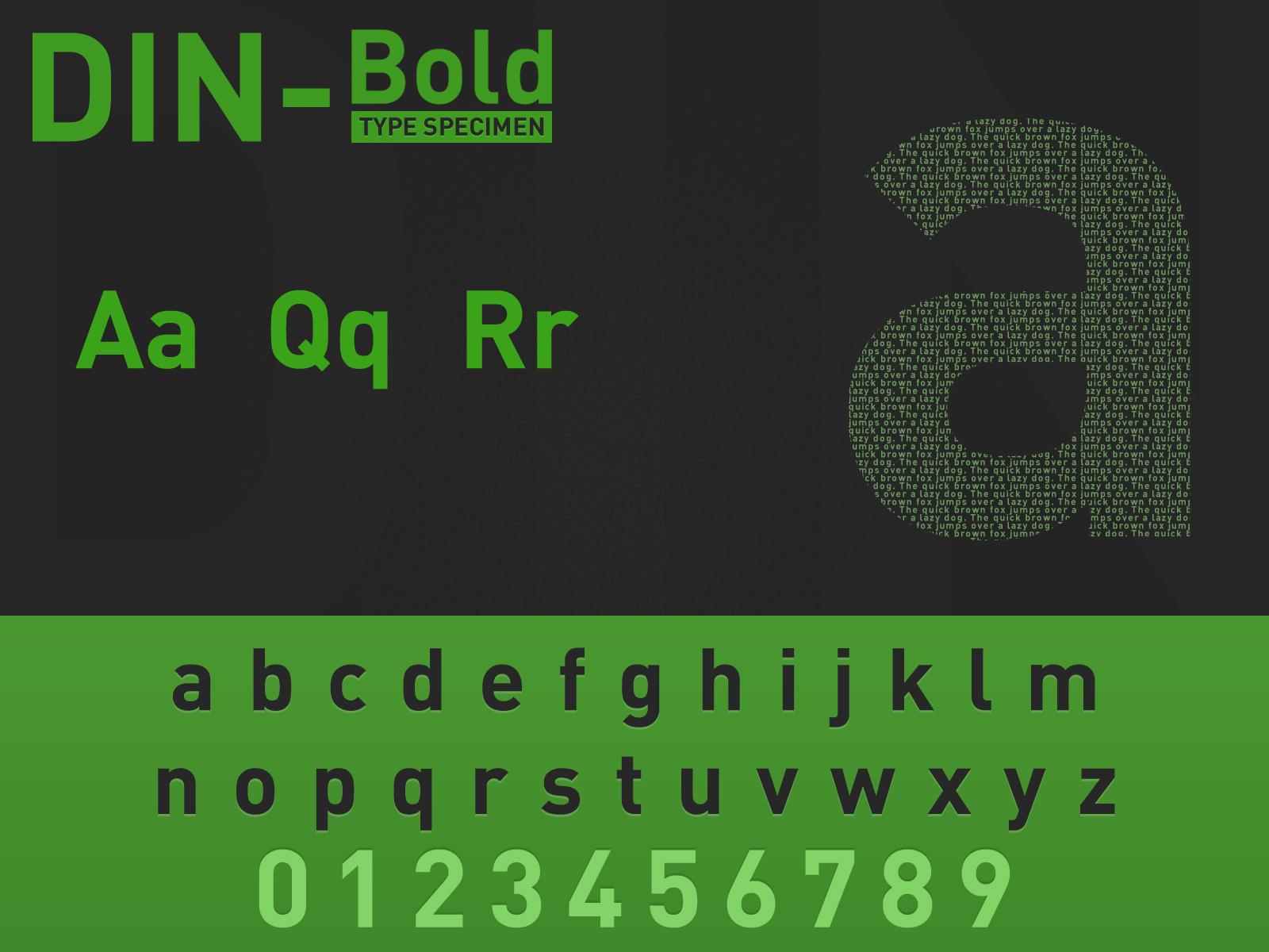 DIN-Bold Type Specimen by t1nus on DeviantArt