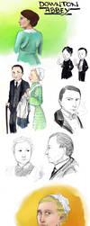 Downton sketches by Oikeus