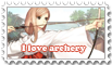 Stamp I Love Archery by D-Flourite