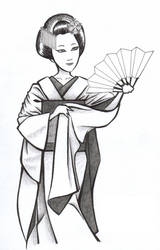 Maiko Geisha - sketch by IAmElly