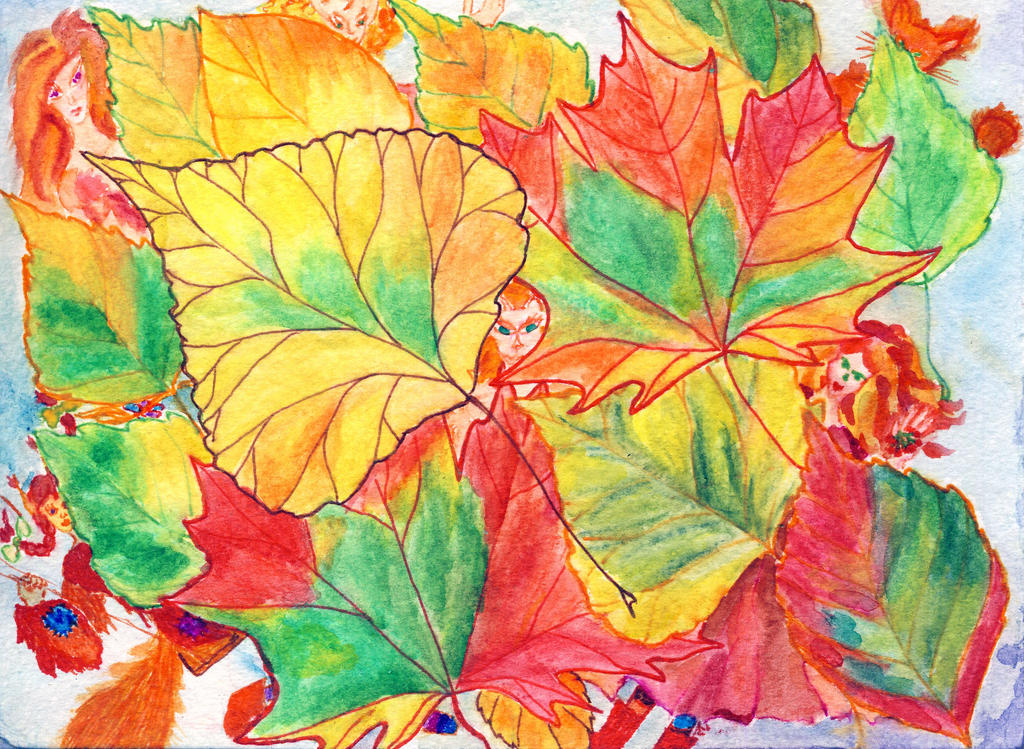 Autumn faeries - reverse of Last Days
