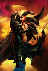 Batman Cover DC by PatLeeArt