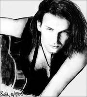 Bono and a Guitar by walktothewater
