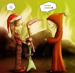 Santa Alexi and Mr. Death