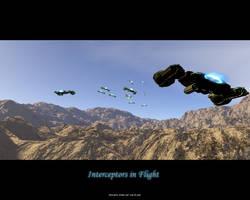 Protoss Interceptors in Flight by crazyYoda