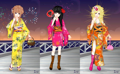 Yukata and Kimono Dress Up by Dreamyko