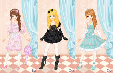 Hime Princess Dress Up Trio by Dreamyko