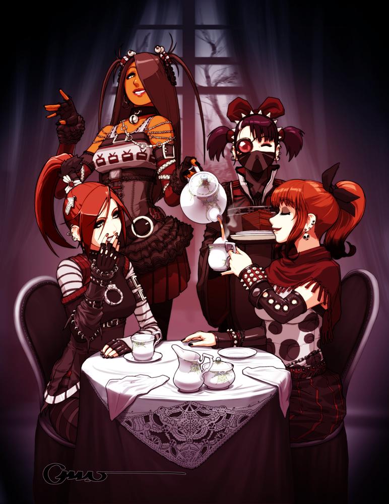 Goth Tea Party by Omar-Dogan