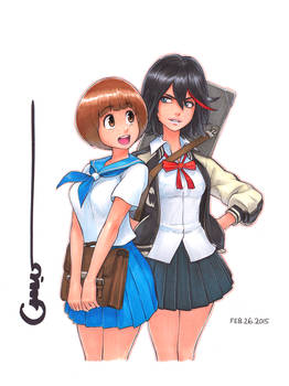 KLK Mako and Ryuko