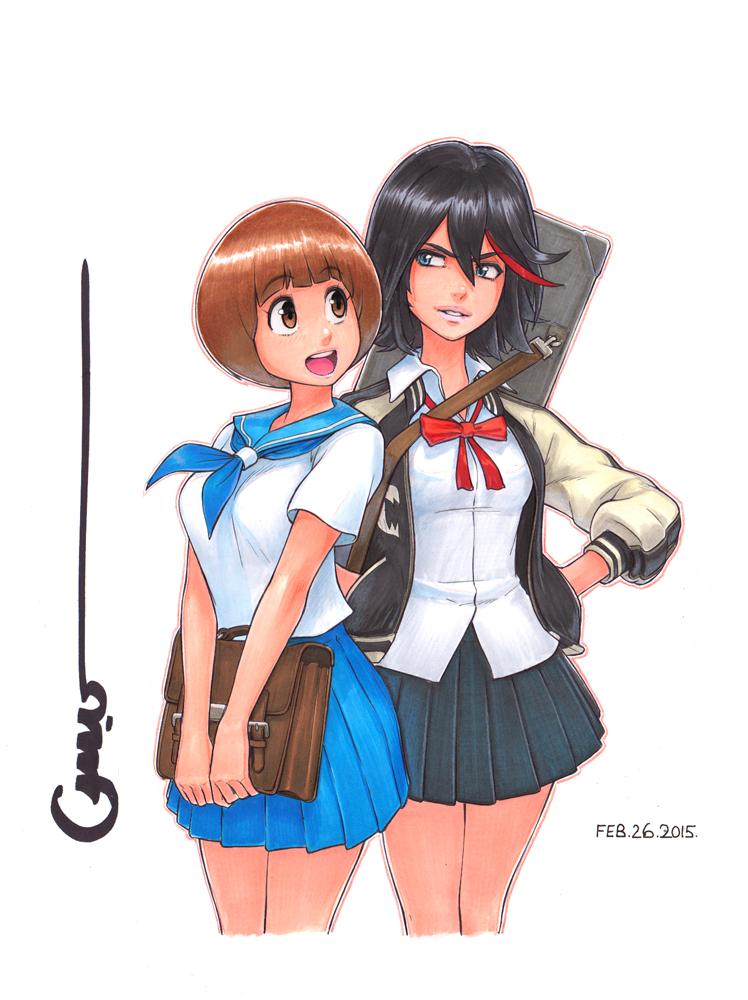 KLK Mako and Ryuko by Omar-Dogan