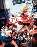 Capcom Tribute Sakura vs Karin by Omar-Dogan