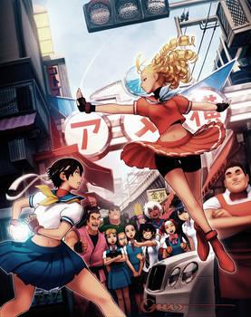 Capcom Tribute Sakura vs Karin