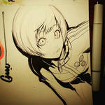 Chie leaning in
