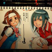 Hinata and Natsu by Omar-Dogan