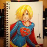 SuperGirl Sketch 001