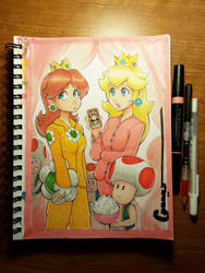 Daisy and Peach Slumber party by Omar-Dogan
