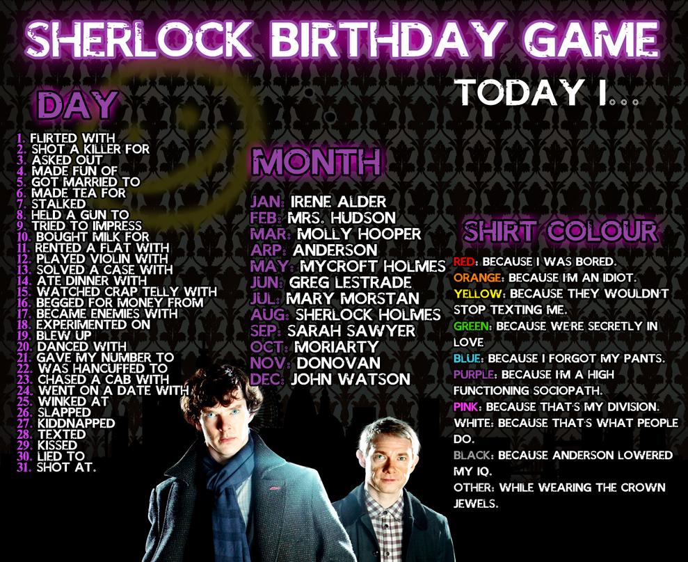 Sherlock Birthday Meme by AgentLaufeyson